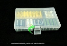 10pcs/lot AA battery Holder Protective Case Portable Plastic Battery Storage Boxes Organizer Container for 48