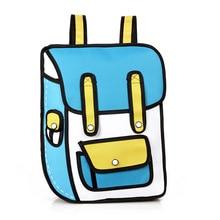 Ausuky 3D 2D Cartoon Oxford Stoffbeutel Comic Rucksack Schultasche für Teenager Mädchen Reise Laptop-tasche 6 Farben 45