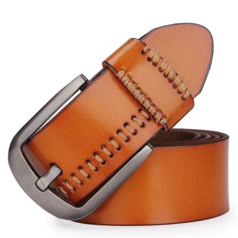 Designer ceintures hommes de haute qualité en cuir véritable ceinture homme mode sangle mâle peau de vache ceintures pour hommes jeans en cuir de vache LL04