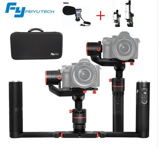 Новый feiyutech A1000 3 оси Gimbal Стабилизатор Ручной для Nikon Sony Canon DSLR Камера GoPro экшн-камеры смартфона 1.7 кг полезная нагрузка