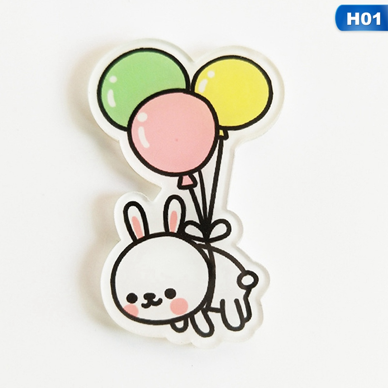 1 Pc Cartoon Panda Bear Badges For Clothing Kawaii Acrylic Badges Icons On The Backpack Icons On The Pin Brooch Female Badge