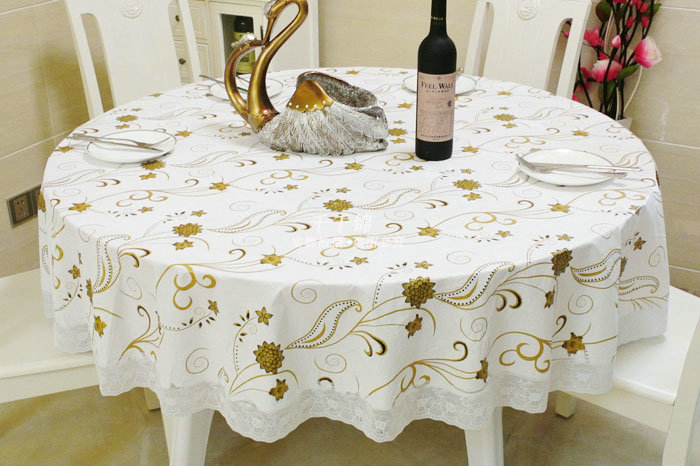 Big round tablecloth plastic PVC waterproof and oil-free disposable table cloth