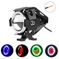 Car Light 1pcs LED U7 LED Motorcycle Light Headlight Spotlight Driving Fog Lamp 3 Modes 12-80V Lamp light Top Quality  #0120