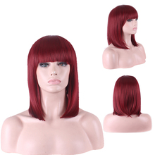 Fashion Cheap Auburn Short Bob Wig Cosplay Costume Synthetic Hair Halloween Costume Woman Wigs Free Shipping все цены
