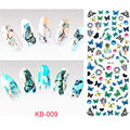 KB-009 2016 Nail Design Water Transfer Nails Art Sticker Colored Butterfly Nail Wraps Sticker Watermark Fingernails Decals