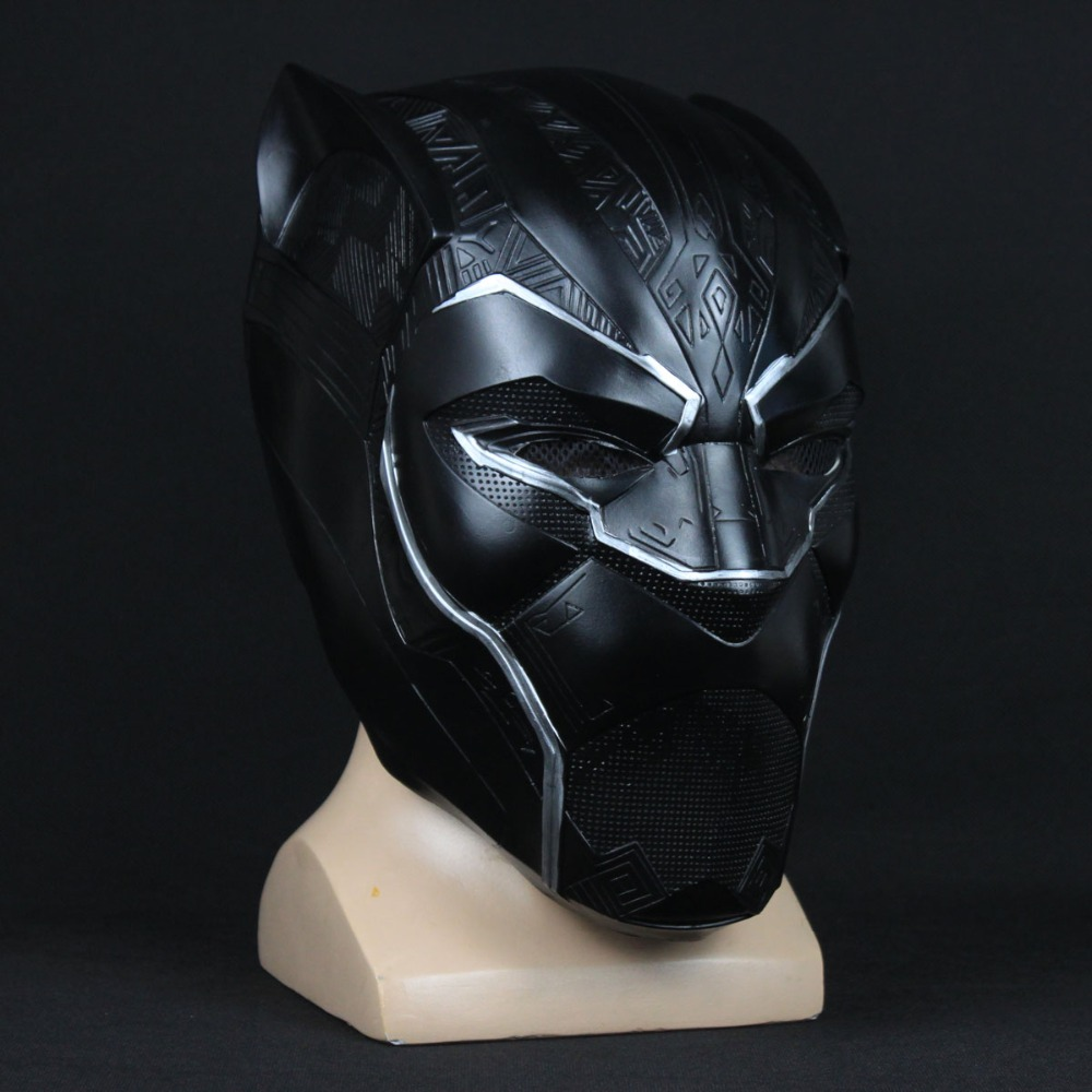 2018 Movie Black Panther Mask Helmet Cospaly T'Challa Wakanda Superhero Black Panther Masks Avengers Infinity War Halloween Prop