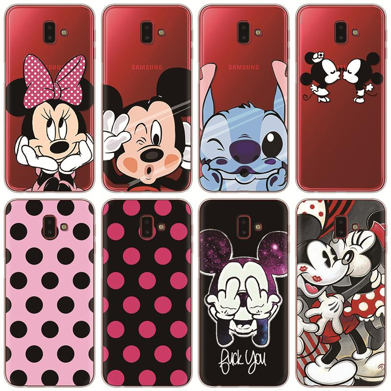Cartoon Cute For Samsung Galaxy J6 2018 Case Cover Soft Silicon TPU Capa Case For Galaxy J6 Plus J6+ J6Plus J610F SM-J610F Thin