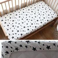 Детские простыня для новорожденных хлопок Мягкий кроватки простыня для детей матраса: 130x70 см позволяют пользовательские сделать