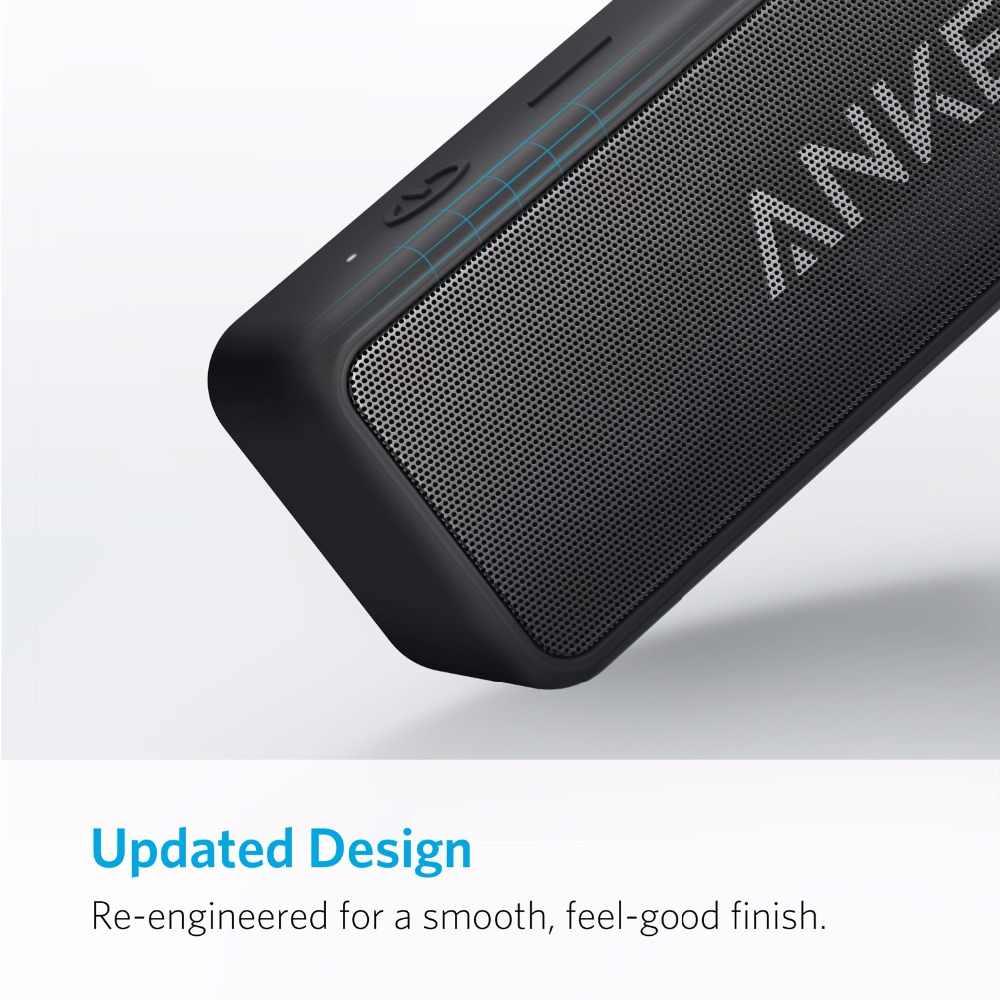 אנקר Soundcore 2 נייד Bluetooth אלחוטי רמקול טוב יותר בס 24-שעה למשחק 66ft Bluetooth טווח IPX7 מים התנגדות