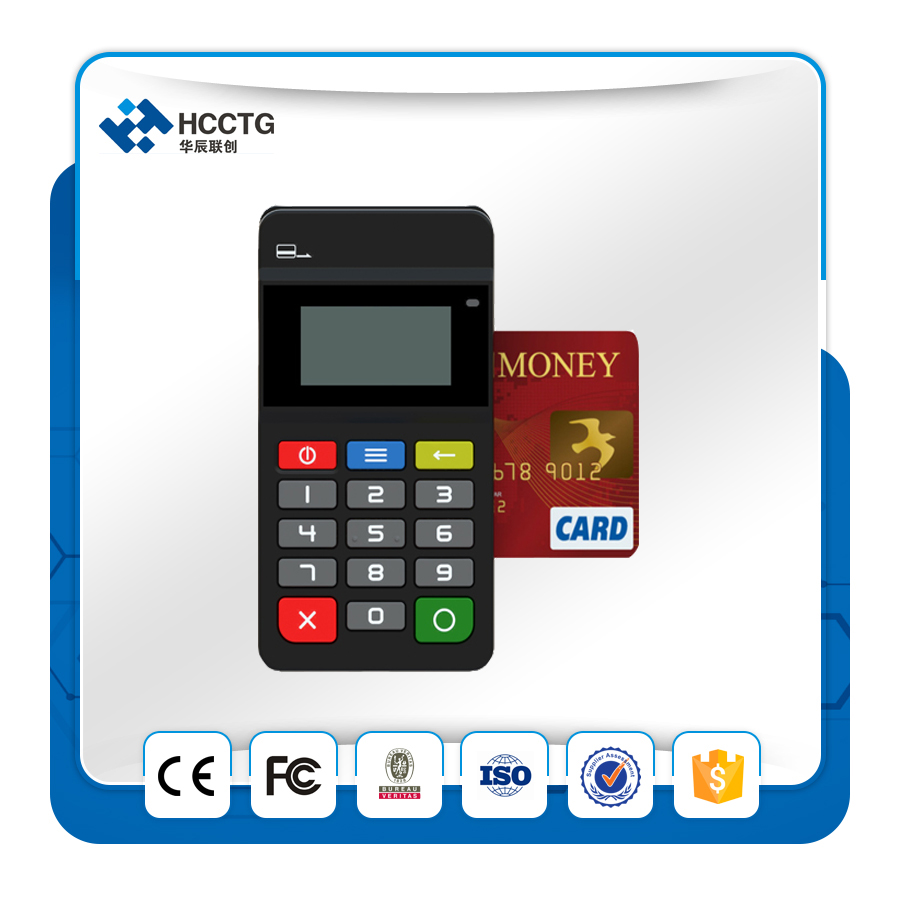MPOS Mobile payment terminal Magnetic Card Reader NFC&IC chip card reader with keypad - HTY711 johnny b mode styling gel
