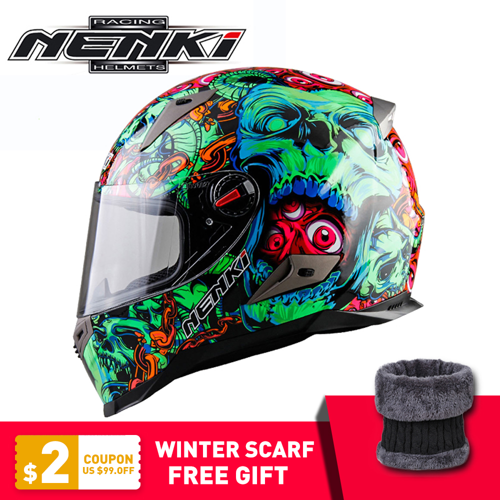 NENKI Motorcycle Helmet Motocross Racing Helmet Motorbike Full Face Helmet Capacete Casco Moto For Men Women ECE Certification