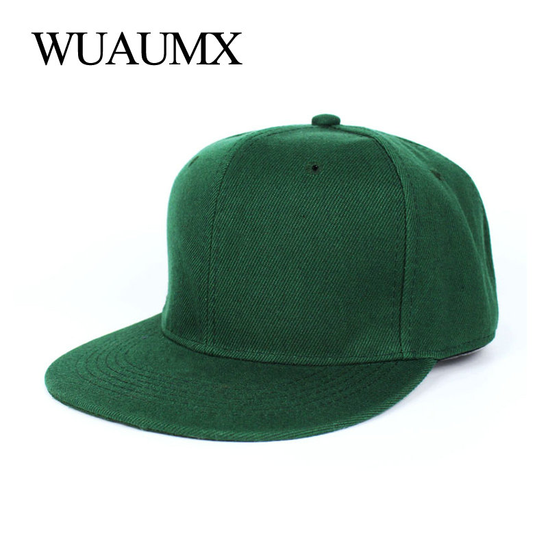 Wuaumx Summer   Baseball     Cap   For Men Flat Brim 5 Planas Hiphop Hat Women Fitted Size Bone Snapback   Cap   Casquette Chapeau Masculino