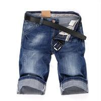 Male Summer Bermuda Straight Jean 32 33 34 36 38 40 Summer New Denim Shorts Men's Jeans Short Men High Quality Cotton shorts