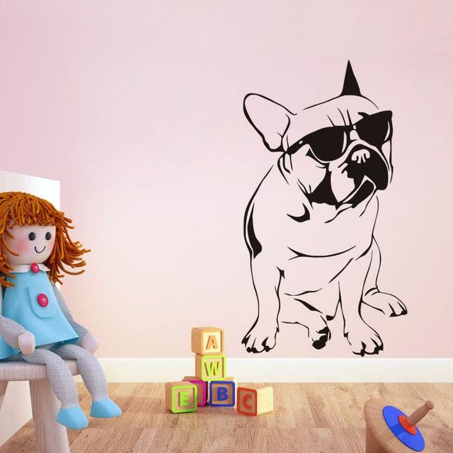 Специфика Личности Оригинальность Круто Наклейки Собака Стекло Стикеры Украшения Рождество Для Ребенка