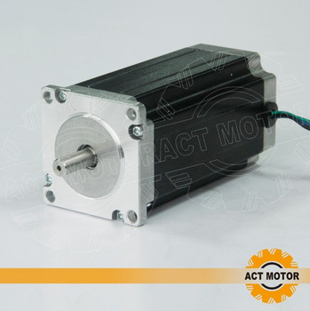 ACT Motor 1PC Nema23 Stepper Motor 23HS2430 Single Shaft 4-Lead 425oz-in 112mm 3.0A Bipolar 8mm-Diameter CE ISO ROHS Engraving image