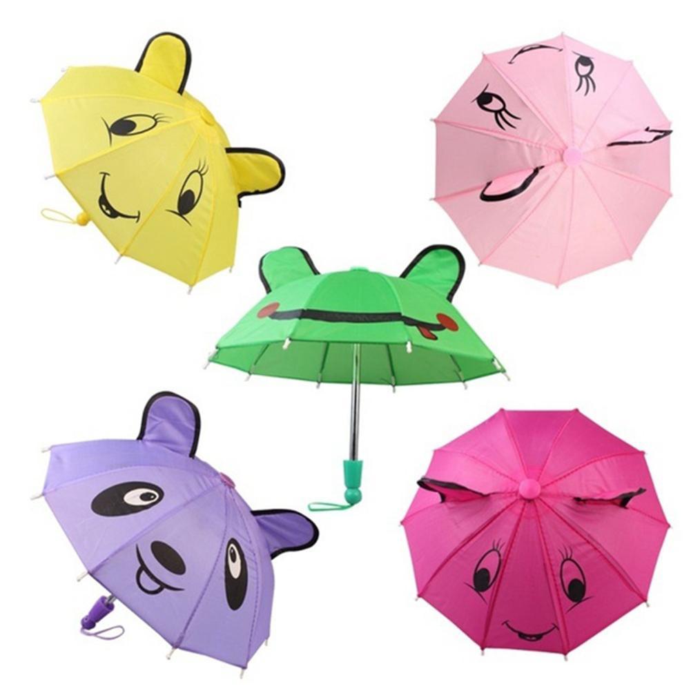 2019 Umbrella Accessories For 18 Inch American Girl /Baby Born Dolls Handmade Outdoor Gift Toys Accessoriesfor Children