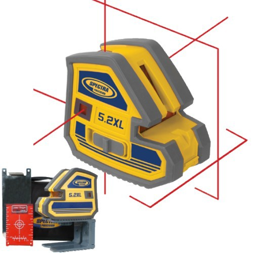 Lower Level Multi Purpose: Spectra Laser Level 5.2XL Multi Purpose 5 Point And Cross