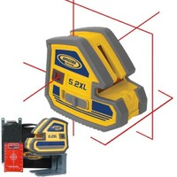Spectra Laser Level 5.2XL Multi Purpose 5 Point and Cross Line Laser 18051