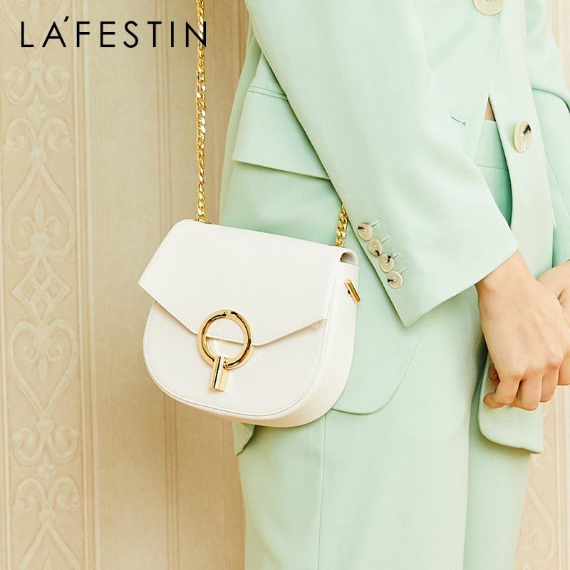 여성을위한 lafestin 패션 가방 2019 새로운 단일 어깨 메신저 가방 여성 안장 가방 야생 체인 작은 가방-에서숄더 백부터 수화물 & 가방 의  그룹 1