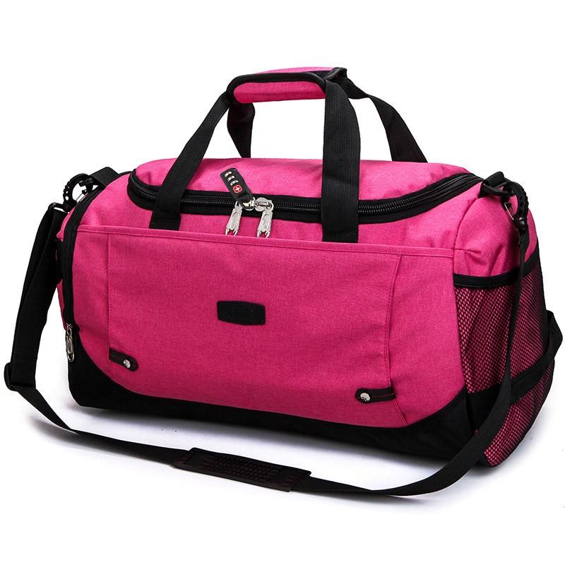 MARKROYAL Многофункциональный Водонепроницаемый Для мужчин Дорожная сумка с защитой от краж дорожная сумка для путешествий большой Ёмкость Сумки из натуральной кожи для уик-энда в одночасье - Цвет: Pink