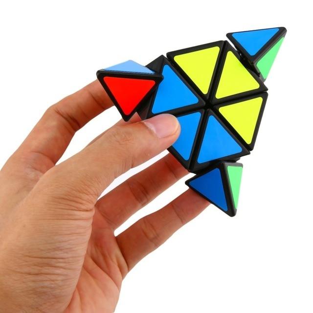 0a7f9f48866 OCDAY Piramide Derde orde Magische kubus Puzzel-Vormige Driehoek Cubes  Rubiks Cube Puzzel Educatief Speelgoed