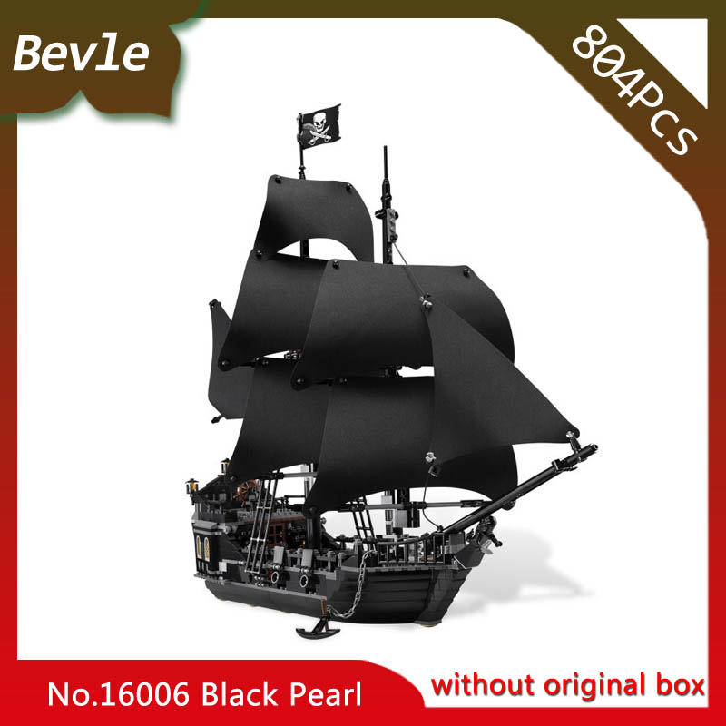 Bevle Store LEPIN 16006 804Pcs Movie Series Ship Model Building Blocks children Toys 4148 compatible Legoe pirates caribbean lepin 22001 pirate ship imperial warships model building block briks toys gift 1717pcs compatible legoed 10210