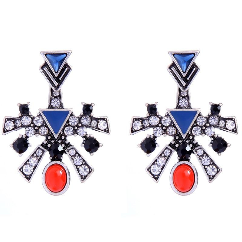 Hearty Fashion Geometric Vintage Earring Jackets Removable Multicolor Double Side Earrings Indian Statement Jewellery Earrings