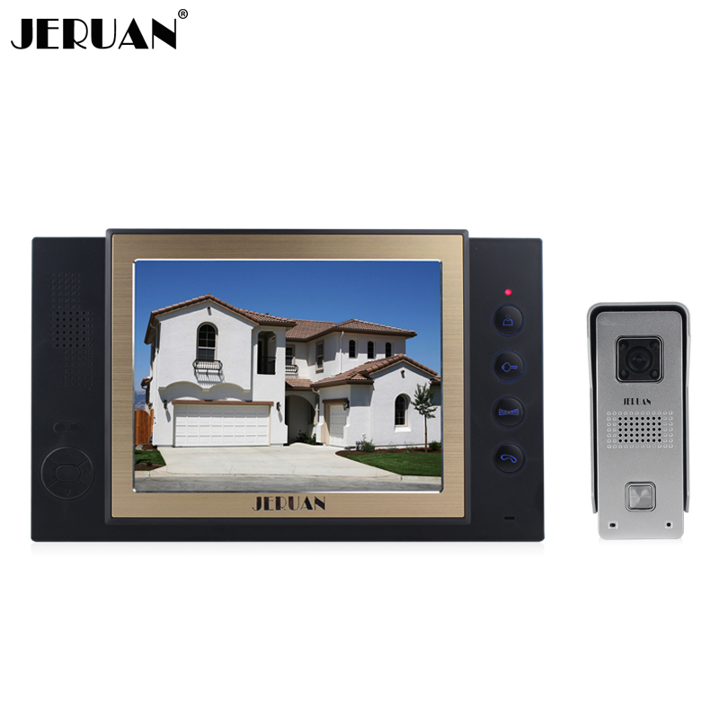 JERUAN 8 inch video door phone high definition mini-camera metal panel with video recording and Photo storage function jeruan 8 inch video door phone high definition mini camera metal panel with video recording and photo storage function