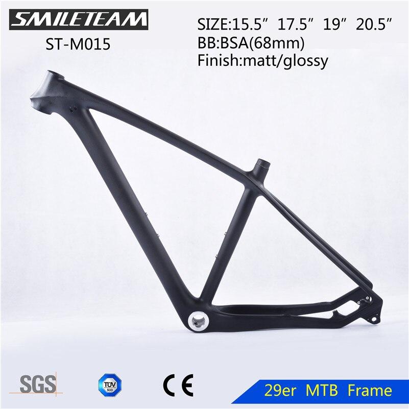SmileTeam 29er Full Carbon MTB Frame 29ER 142*12mm Bike Frame New Full Carbon 3k Weave Mountain Bike Frame 29er Bicycle Frame