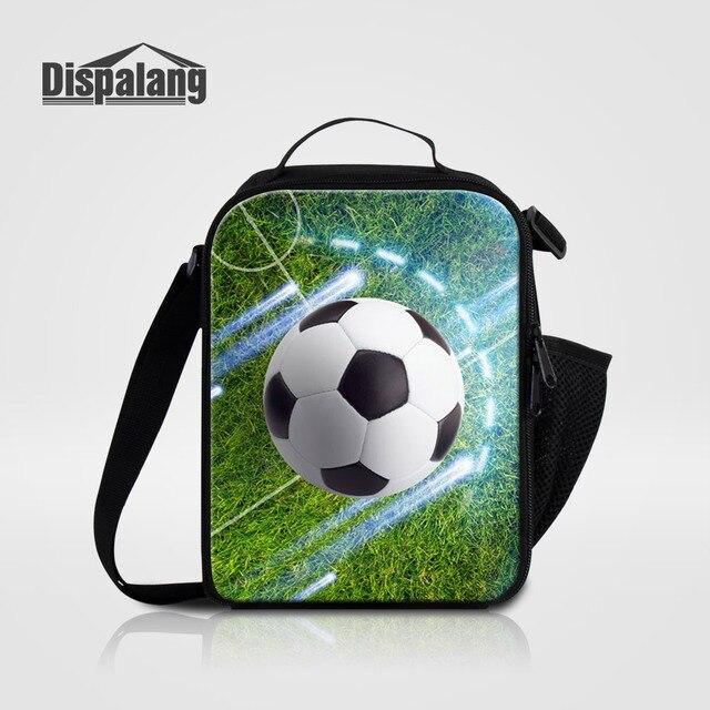 db17fe515e Dispalang Footballs Impressos Isolados Almoço Sacos Soccers Design Caixa  Para Estudantes Homens Portátil Piquenique Saco Lancheira