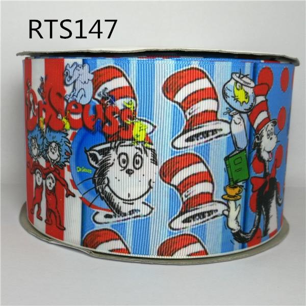 Free shipping 50yard roll 3 inch 75mm cartoon character printed grosgrain ribbon RTS147