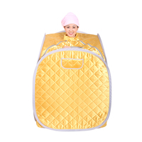 Portable Steam Sauna Box Sauna Accessories Not Incloud Steamer Golden Gray Color For Home Family Use