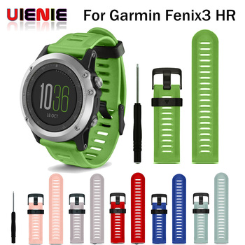 Hot Replacement Silicone Watchbands Sport Silicone wrist Strap for Garmin Fenix 3 /Fenix 3 HR /Fenix 5X GPS Watch With Tools stainless steel watch band 26mm for garmin fenix 3 hr butterfly clasp strap wrist loop belt bracelet silver spring bar