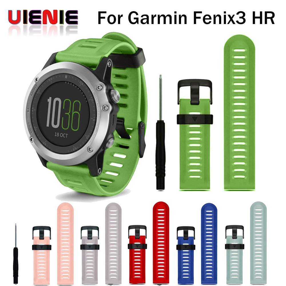 Hot Replacement Silicone Watchbands Sport Silicone wrist Strap for Garmin Fenix 3 /Fenix 3 HR GPS Watch With Tools for Fenix 5X gps навигатор garmin fenix