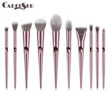 Роскошные Профессиональные кисти для макияжа, набор для тональной пудры, румяна, тени для век, консилер, Кисть для макияжа губ, косметика, косметический инструмент
