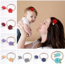 2017 New Coming Hair Accessories Set Felt Flower Headband Little Girls Headband + Mom Hair Clip