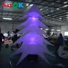 3 mt Hohe Aufblasbare Weihnachten Baum LED Baum Aufblasbare Anlage mit 16 Farbe Wechselnden Lichter für Weihnachten Home Party Dekorationen