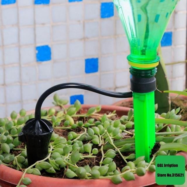 1セット盆栽花自動灌漑ドリッパー花ポット水まき点滴灌漑キット水保存軟泥ドリッパードリップノズル