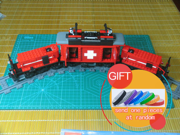 rl 21011 02 21011 1130Pcs Technical Series The Medical Changing Train Set Children Educational Building Blocks Compatible with 10183 lepin