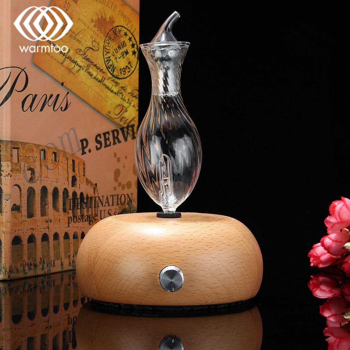 Warmtoo модные распылив чистый Эфирные масла аромат увлажнитель воздуха аромат древесины Стекло диффузор для Офис прибор
