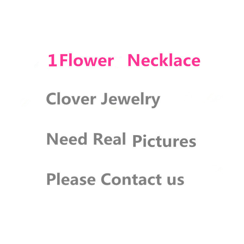 Hot sell 925 Sterling Silver Four Leaf Clover Flower Jewelry For Women Necklace Black Green Red Mother Shell Pearl Pendant trendy four leaf clover shape pendant necklace for women