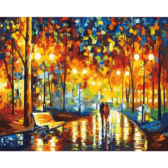 Unframed Knife Painting DIY Landscape Oil Painting Paint By Numbers Kits  Acrylic Art Wall Mural Decals