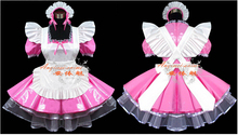 New Arrival Custom Made Maid Outfit Anime Cosplay Party Dress Bow Uniform PVC Maid Nightclub dress