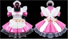 Nueva llegada por encargo traje de sirvienta de Anime Cosplay Party Dress Bow PVC uniforme del club nocturno de mucama ropa Cosplay traje