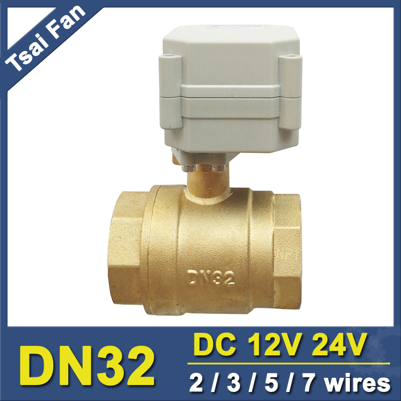 Metal Gear Brass 1 1 4 2 Way Electric Ball Valve 2 3 5 7 Wires