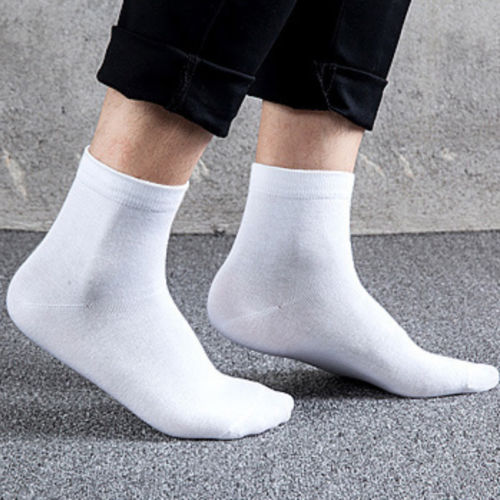 Mens Polo Business Classic Style Pure Crew Socks Females Casual Cotton Socks Solid Colors