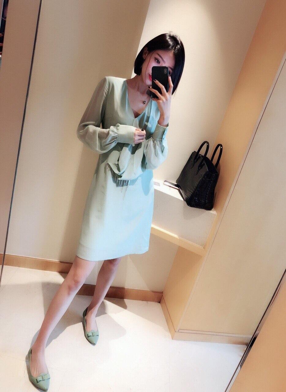 3 100 Green Pour Asymétriques 1 Robes Nouveau 2019 Soie Couleur Tailles Femmes Vêtements 7Zq500