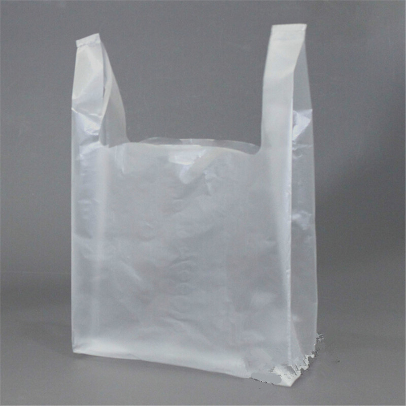 100pcs/lot Transparent Bags Shopping Bag Supermarket Plastic Bags With Handle Wholesale Packaging 15*23cm форма для нарезки арбуза