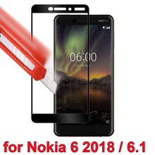 hot deal buy weeyrn protective glass for nokia 6.1 2018 for nokia 6.1 tempered glass screen protector for nokia 6 2018 full cover glass 9h