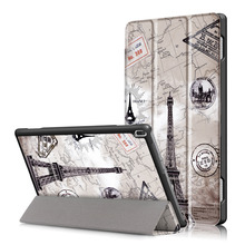 Ultra Thin Magnet Smart Sleep Protective Cover Print Folio Stand PU Leather Case For Lenovo TAB 4 10 TB-X304F TB-X304N Tablet